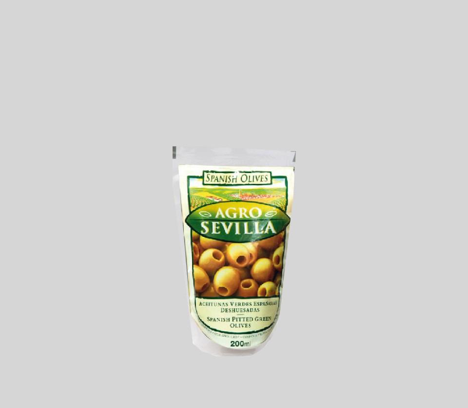 Zelené olivy bez kôstky