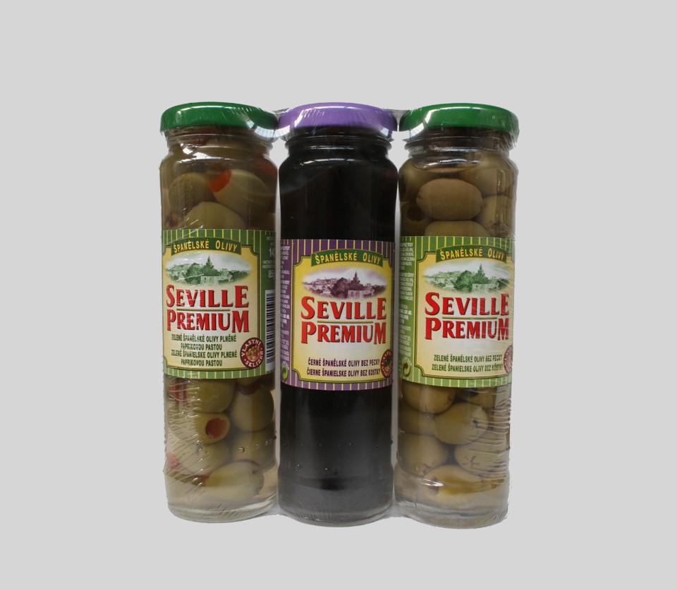 Zelené olivy mix